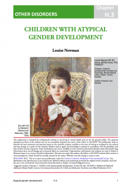 CHILDREN WITH ATYPICALGENDER DEVELOPMENT