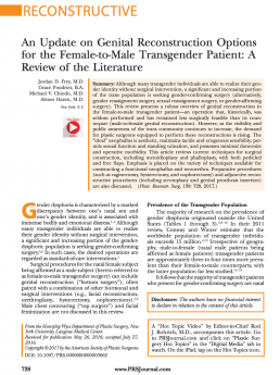 An Update on Genital Reconstruction Options for the Female-to-Male Transgender Patient- A Review of the Literature