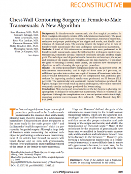 Chest-Wall Contouring Surgery in Female-to-MaleTranssexuals_ A New Algorithm